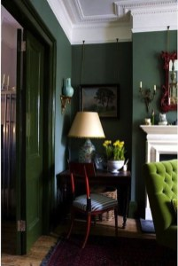 Cozy Green Livingroom Ideas 21