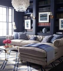 Lovely Blue Livigroom Ideas 05