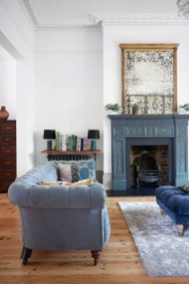 Lovely Blue Livigroom Ideas 10
