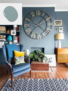 Lovely Blue Livigroom Ideas 20