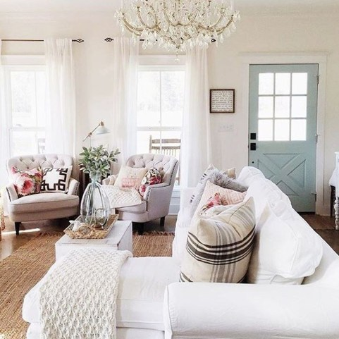 Lovely Blue Livigroom Ideas 35