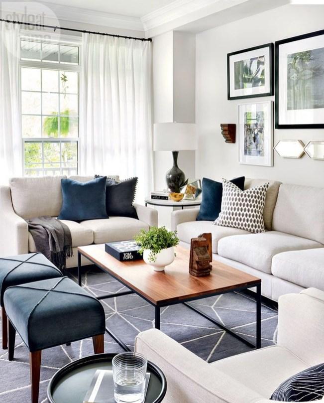 Lovely Blue Livigroom Ideas 36