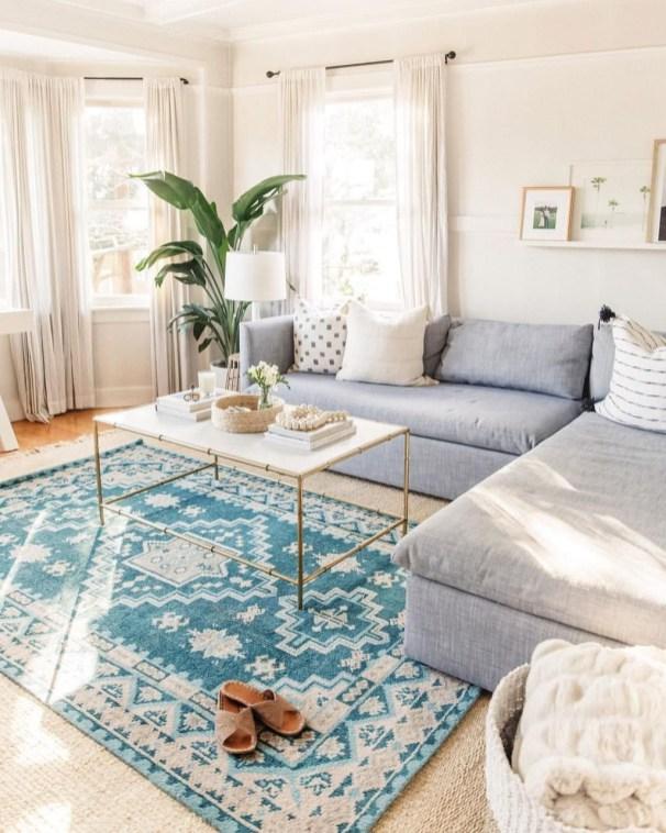 Lovely Blue Livigroom Ideas 42