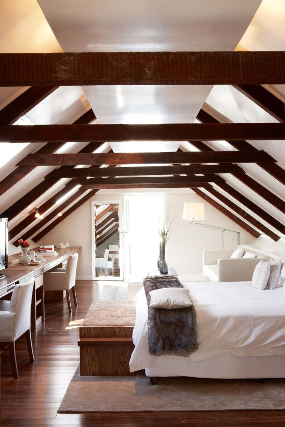 Unique Wooden Attic Ideas 24