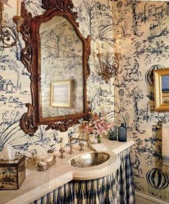 Awesome Country Mirror Bathroom Decor Ideas 26