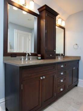 Awesome Country Mirror Bathroom Decor Ideas 29