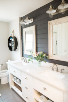 Awesome Country Mirror Bathroom Decor Ideas 33