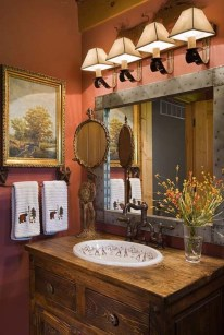 Awesome Country Mirror Bathroom Decor Ideas 44