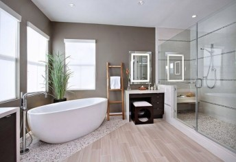 Cozy Wooden Bathroom Designs Ideas 31