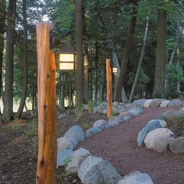 Fantastic Rustic Garden Light Landscaping Ideas 43