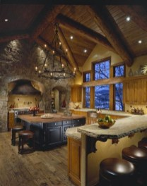 Gorgeous Rustic Country Style Kitchen Made By Wood 22