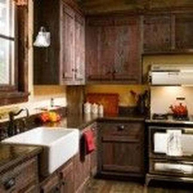 Gorgeous Rustic Country Style Kitchen Made By Wood 23