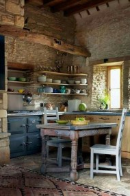 Gorgeous Rustic Country Style Kitchen Made By Wood 27
