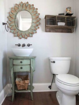 Inspiring Rustic Small Bathroom Wood Decor Design 06
