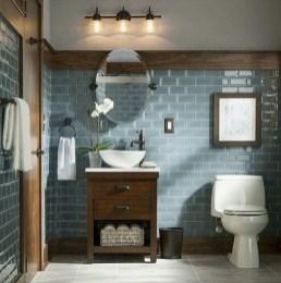 Inspiring Rustic Small Bathroom Wood Decor Design 12