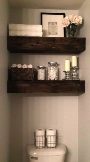 Inspiring Rustic Small Bathroom Wood Decor Design 16