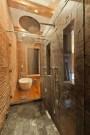 Inspiring Rustic Small Bathroom Wood Decor Design 24