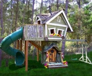 Inspiring Simple Diy Treehouse Kids Play Ideas 02