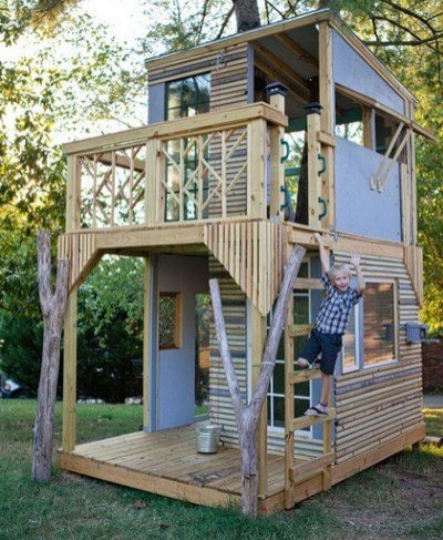 Inspiring Simple Diy Treehouse Kids Play Ideas 06