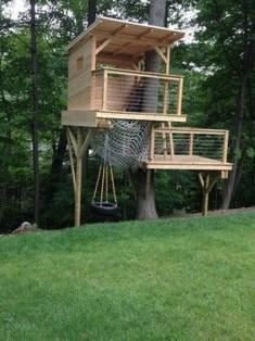 Inspiring Simple Diy Treehouse Kids Play Ideas 22