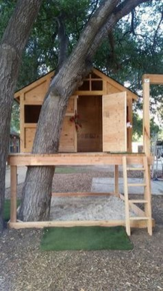 Inspiring Simple Diy Treehouse Kids Play Ideas 36