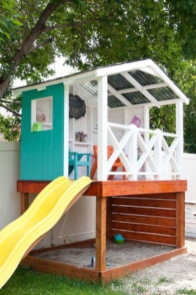 Inspiring Simple Diy Treehouse Kids Play Ideas 37