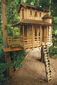 Inspiring Simple Diy Treehouse Kids Play Ideas 40