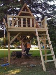 Inspiring Simple Diy Treehouse Kids Play Ideas 41