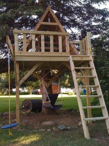 Inspiring Simple Diy Treehouse Kids Play Ideas 41