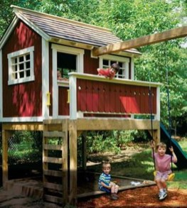 Inspiring Simple Diy Treehouse Kids Play Ideas 42