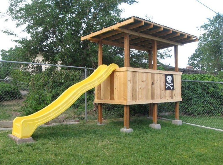 Inspiring Simple Diy Treehouse Kids Play Ideas 44