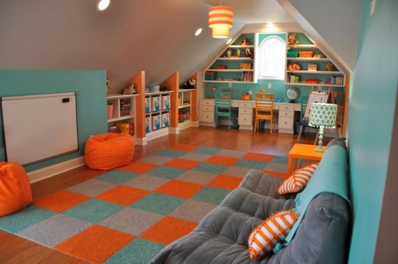 Lovely Traditional Attic Ideas 37