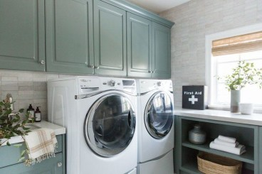 Modern Basement Remodel Laundry Room Ideas 02