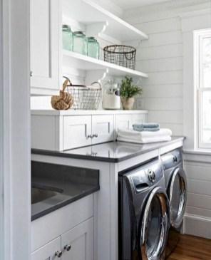 Modern Basement Remodel Laundry Room Ideas 22