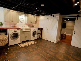 Modern Basement Remodel Laundry Room Ideas 27