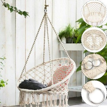 Modern Hanging Swing Chair Stand Indoor Decor 03