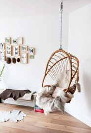 Modern Hanging Swing Chair Stand Indoor Decor 15