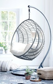 Modern Hanging Swing Chair Stand Indoor Decor 26