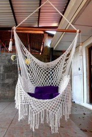 Modern Hanging Swing Chair Stand Indoor Decor 30