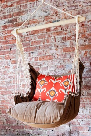 Modern Hanging Swing Chair Stand Indoor Decor 40