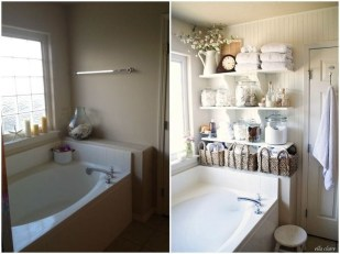Rustic Country Bathroom Shelves Ideas Must Try 16