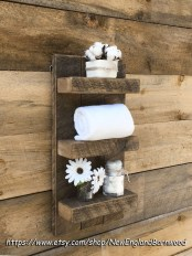 Rustic Country Bathroom Shelves Ideas Must Try 18