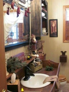 Rustic Country Bathroom Shelves Ideas Must Try 35