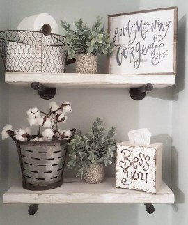 Rustic Country Bathroom Shelves Ideas Must Try 39