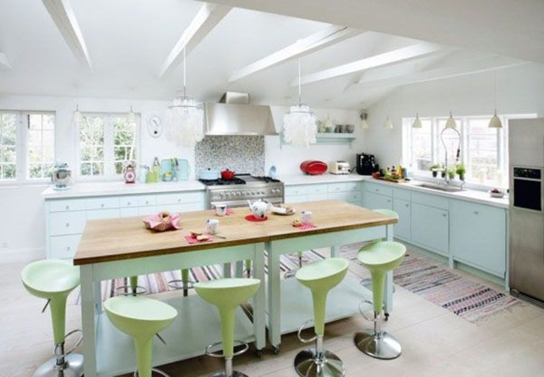 Dream Kitchen Brightened With A Pastel Color Palette 39