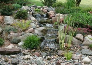 Awesome Small Waterfall Pond Landscaping Ideas Backyard02