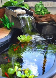 Awesome Small Waterfall Pond Landscaping Ideas Backyard07