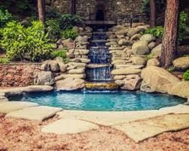Awesome Small Waterfall Pond Landscaping Ideas Backyard12