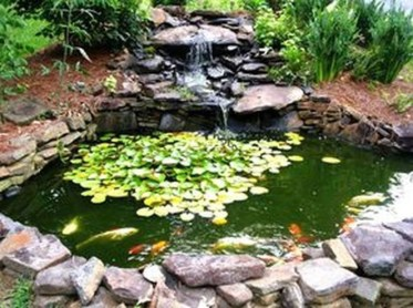 Awesome Small Waterfall Pond Landscaping Ideas Backyard13