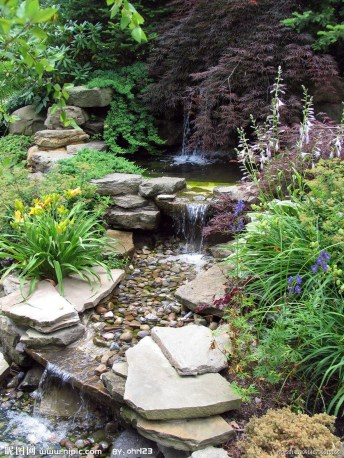 Awesome Small Waterfall Pond Landscaping Ideas Backyard20